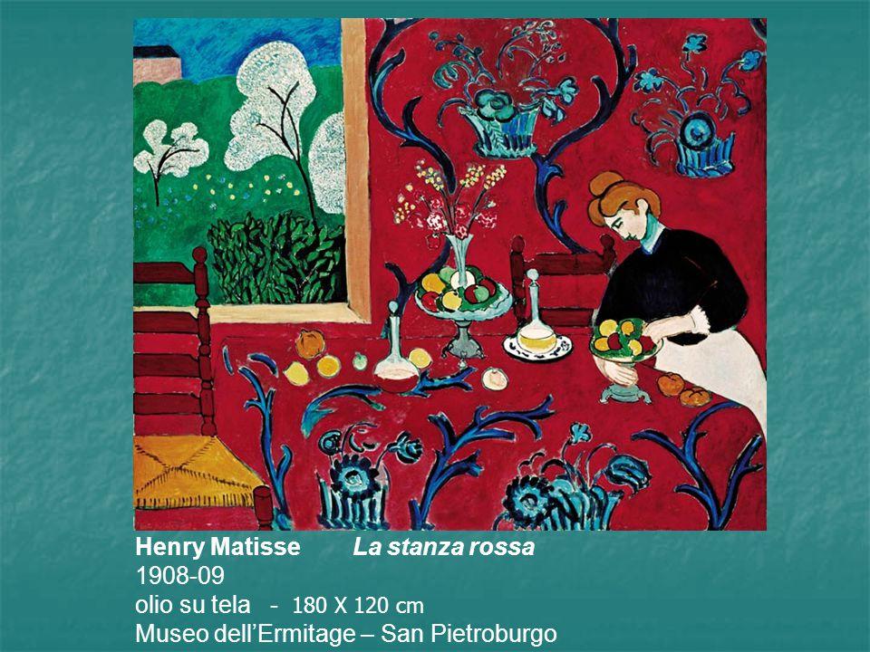 Henry Matisse La stanza rossa 1908-09 olio su tela - 180 X 120 cm Museo dell'Ermitage – San Pietroburgo