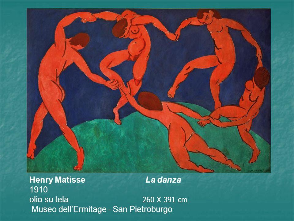 Henry Matisse La danza 1910 olio su tela 260 X 391 cm Museo dell'Ermitage - San Pietroburgo