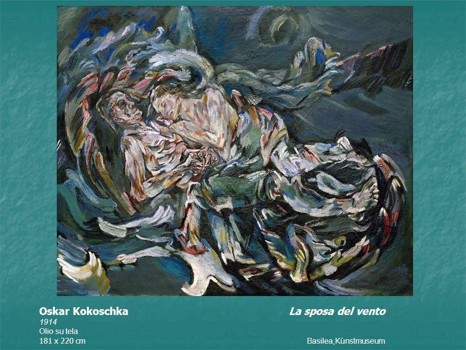 Oskar Kokoschka La sposa del vento 1914 Olio su tela 181 x 220 cm Basilea,Kùnstmuseum
