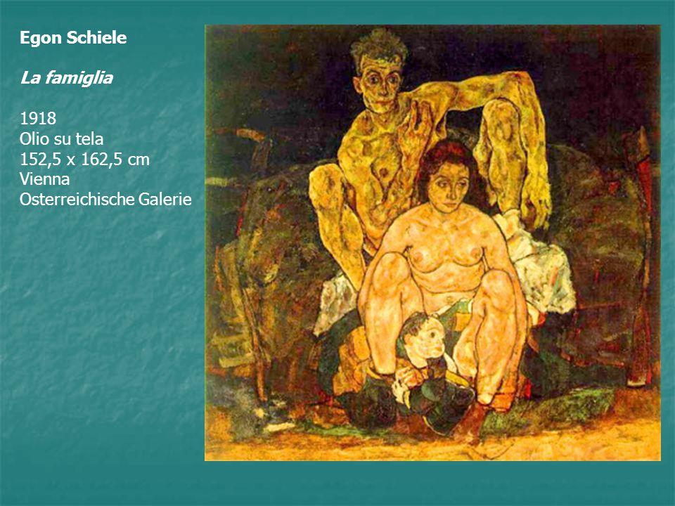 Egon Schiele La famiglia 1918 Olio su tela 152,5 x 162,5 cm Vienna Osterreichische Galerie