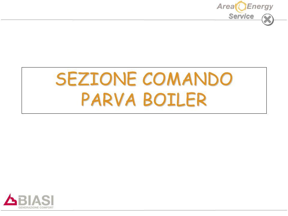 Service SEZIONE COMANDO PARVA BOILER