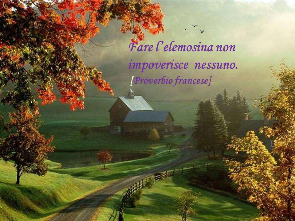Per conoscere il valore della generosità, bisogna aver sofferto della fredda indifferenza degli altri...