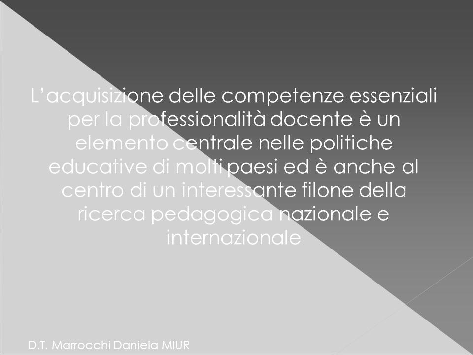 L'acquisizione delle competenze essenziali per la professionalità docente è un elemento centrale nelle politiche educative di molti paesi ed è anche al centro di un interessante filone della ricerca pedagogica nazionale e internazionale