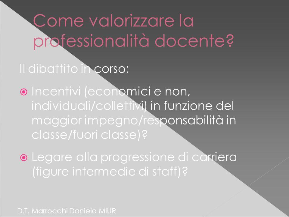 Come valorizzare la professionalità docente.