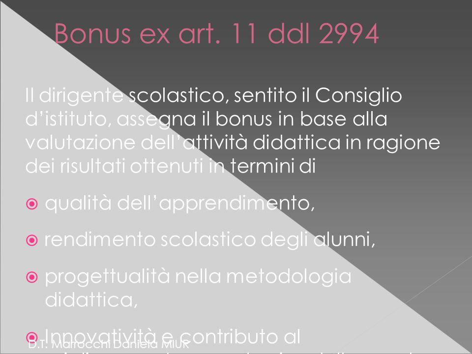 Bonus ex art.