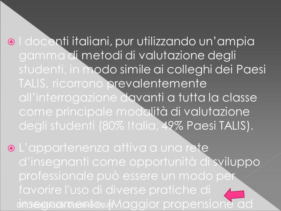 D.T. Marrocchi Daniela MIUR  I docenti italiani, pur utilizzando un'ampia gamma di metodi di valutazione degli studenti, in modo simile ai colleghi d
