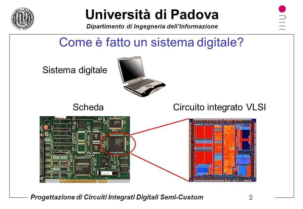 Università di Padova Dipartimento di Ingegneria dell'Informazione Progettazione di Circuiti Integrati Digitali Semi-Custom 1 Tecnologie Implementative