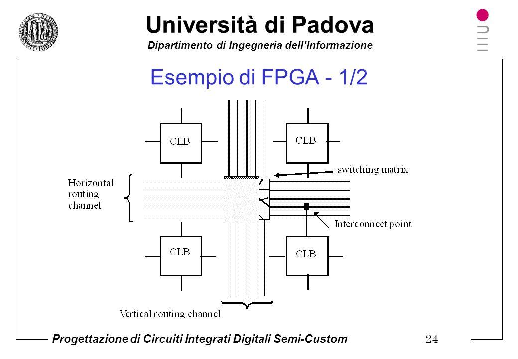 Università di Padova Dipartimento di Ingegneria dell'Informazione Progettazione di Circuiti Integrati Digitali Semi-Custom 23 Circuiti logici programm