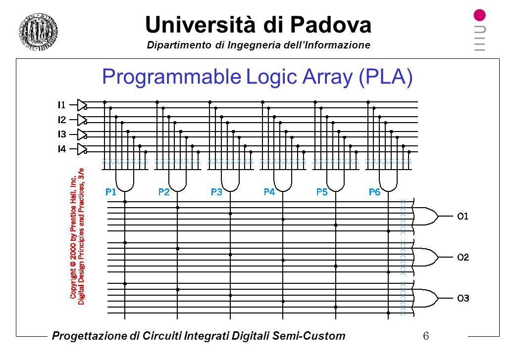 Università di Padova Dipartimento di Ingegneria dell'Informazione Progettazione di Circuiti Integrati Digitali Semi-Custom 5