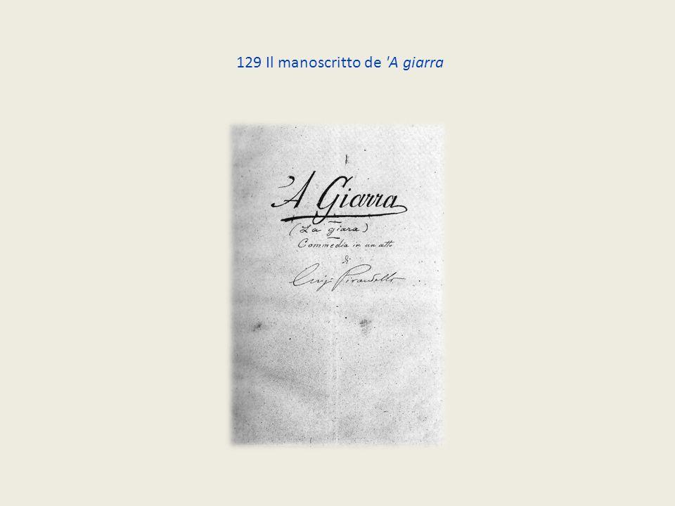 129 Il manoscritto de 'A giarra