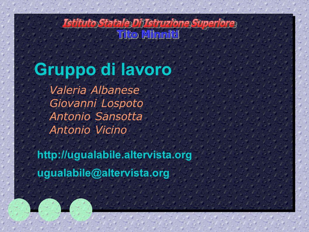  Confrontare esperienze lavorative di disabili, sia in Italia che all estero.