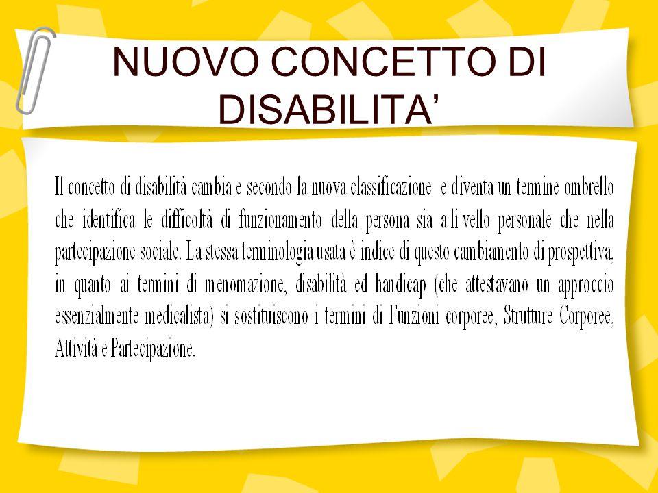 NUOVO CONCETTO DI DISABILITA '