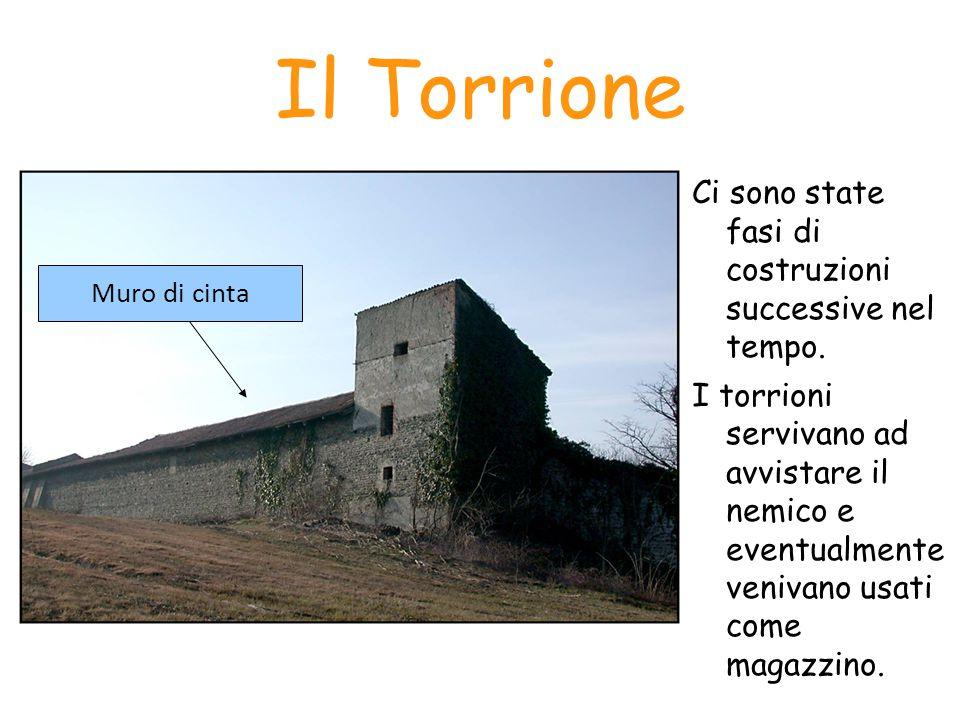 Il Torrione Ci sono state fasi di costruzioni successive nel tempo. I torrioni servivano ad avvistare il nemico e eventualmente venivano usati come ma