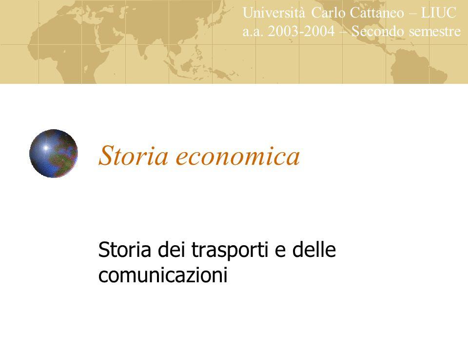 Storia economica Storia dei trasporti e delle comunicazioni Università Carlo Cattaneo – LIUC a.a. 2003-2004 – Secondo semestre