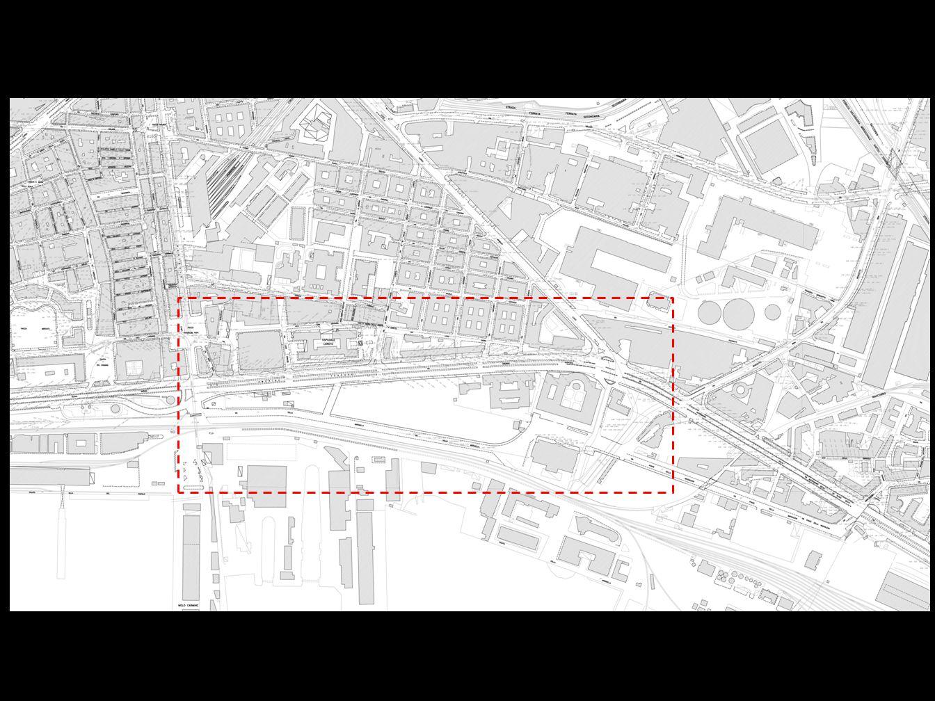 Area di studio Piazza Mercato Mercato Ittico Casa del Portuale Rione Stella Polare