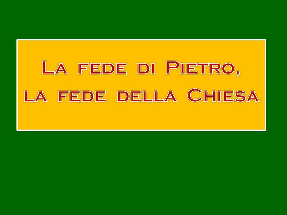 Tu es Petrus, et super hanc petram aedificabo ecclesiam meam, Tu sei Pietro, e sopra questa pietra edificherò la mia chiesa, et portae inferi non praevalebunt adversus eam...