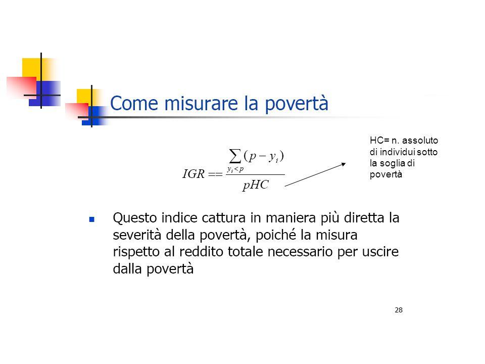 HC= n. assoluto di individui sotto la soglia di povertà