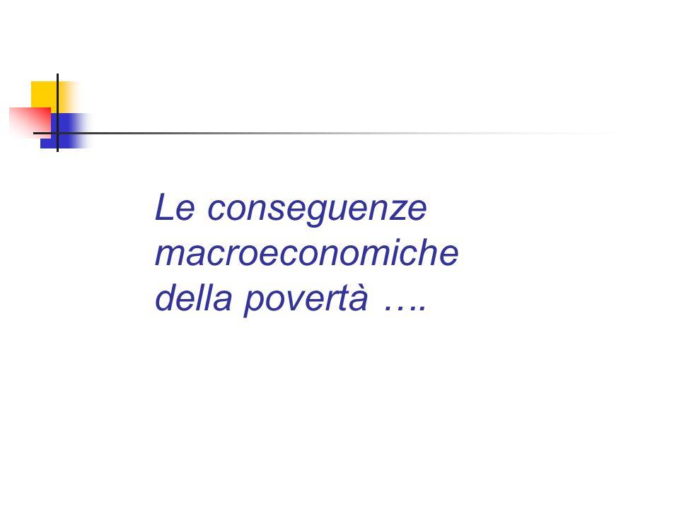 Le conseguenze macroeconomiche della povertà ….