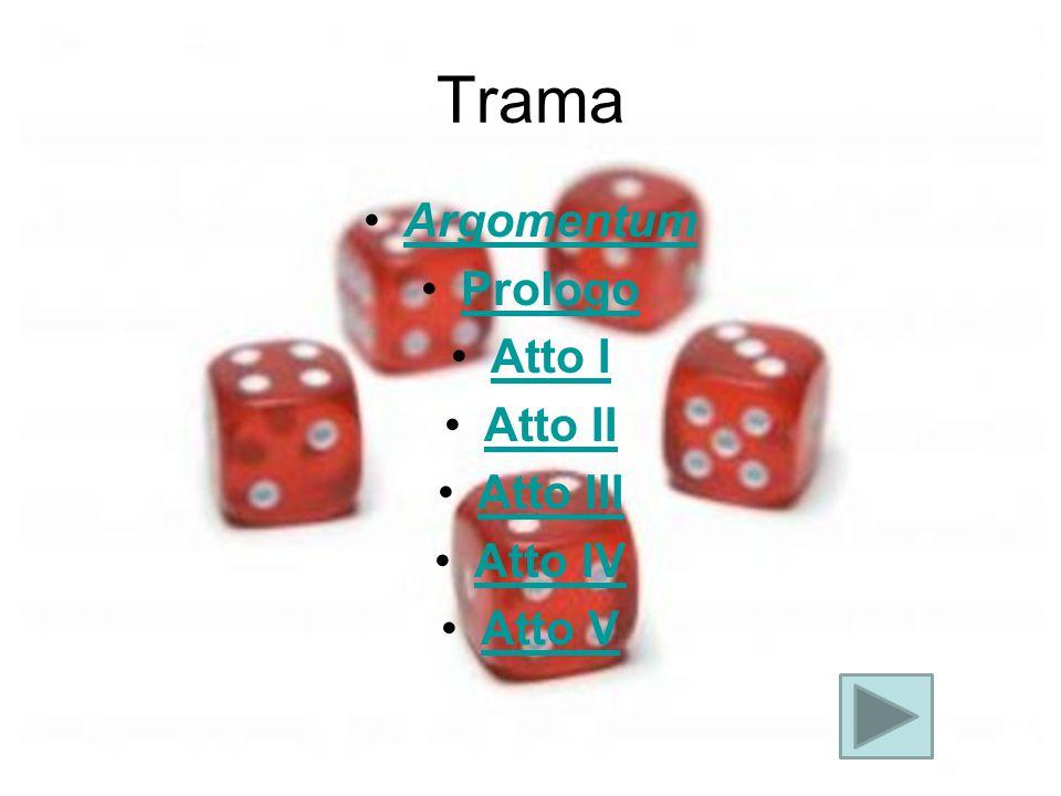 Trama Argomentum Prologo Atto I Atto II Atto III Atto IV Atto V