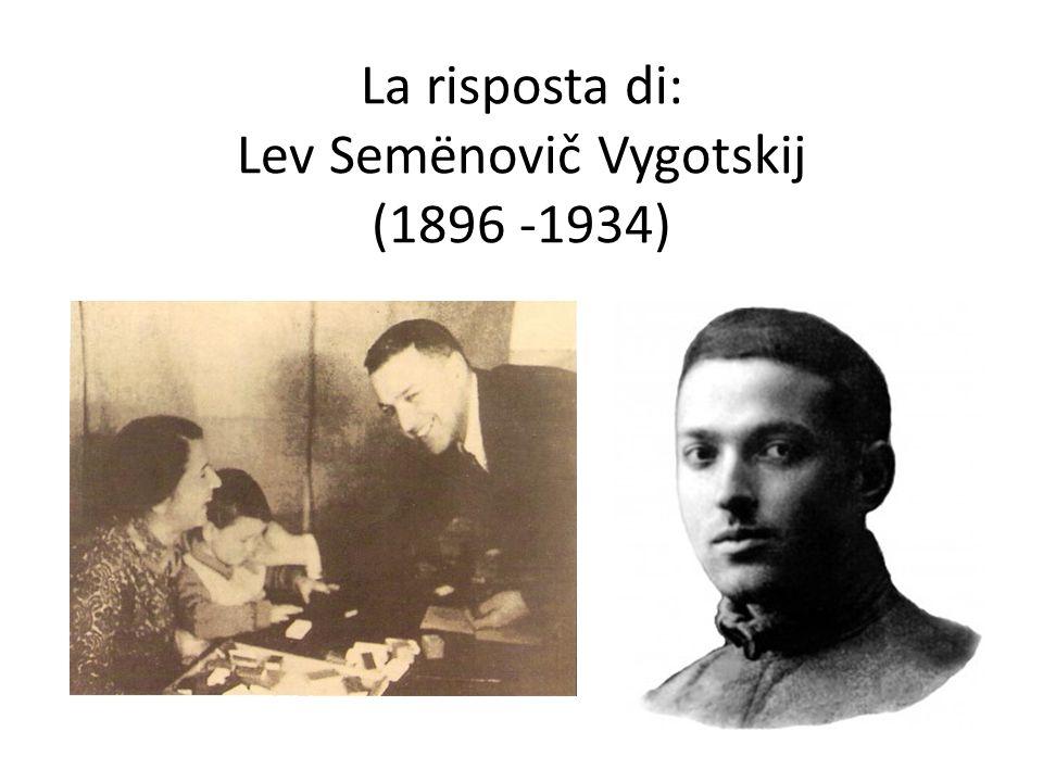 La risposta di: Lev Semënovič Vygotskij (1896 -1934)