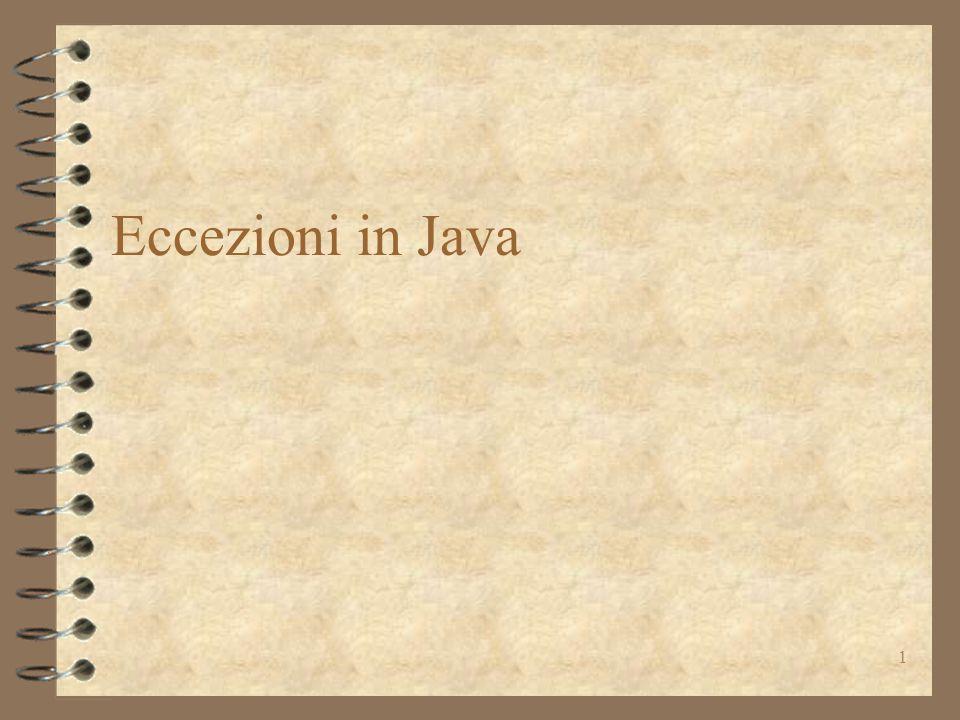 1 Eccezioni in Java
