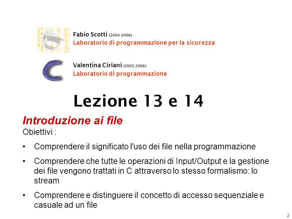 Fabio Scotti – Università degli Studi di Milano 43 Esempio (2)