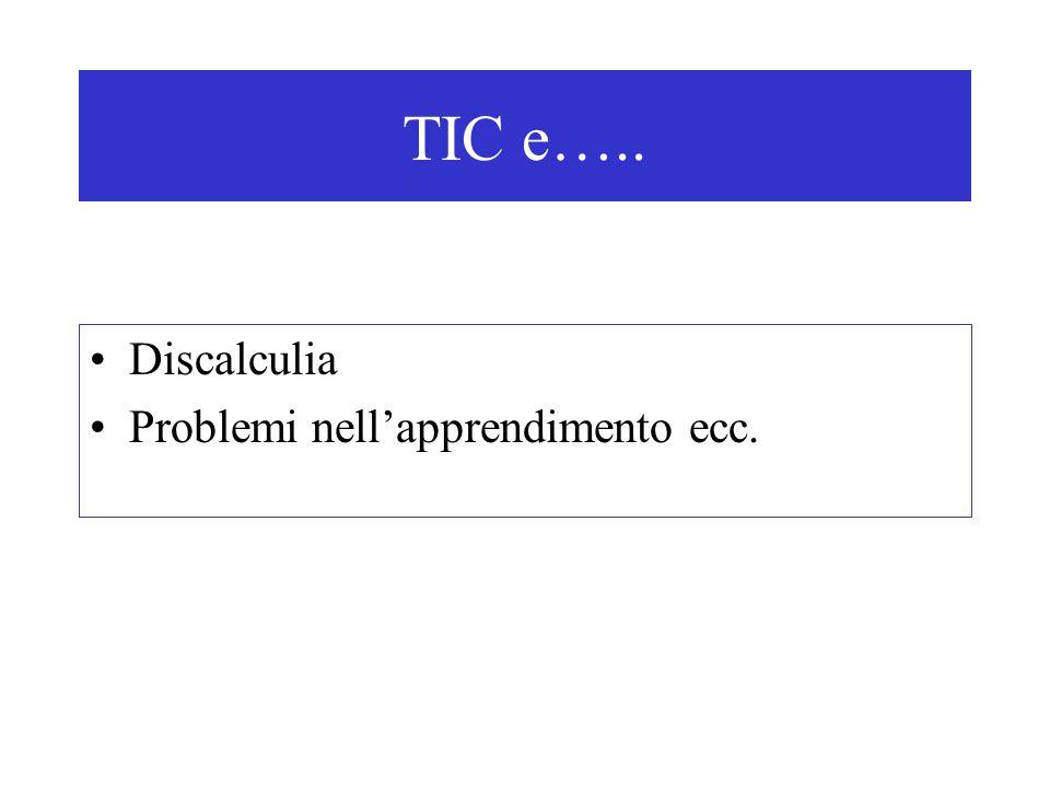 Discalculia Problemi nell'apprendimento ecc. TIC e…..
