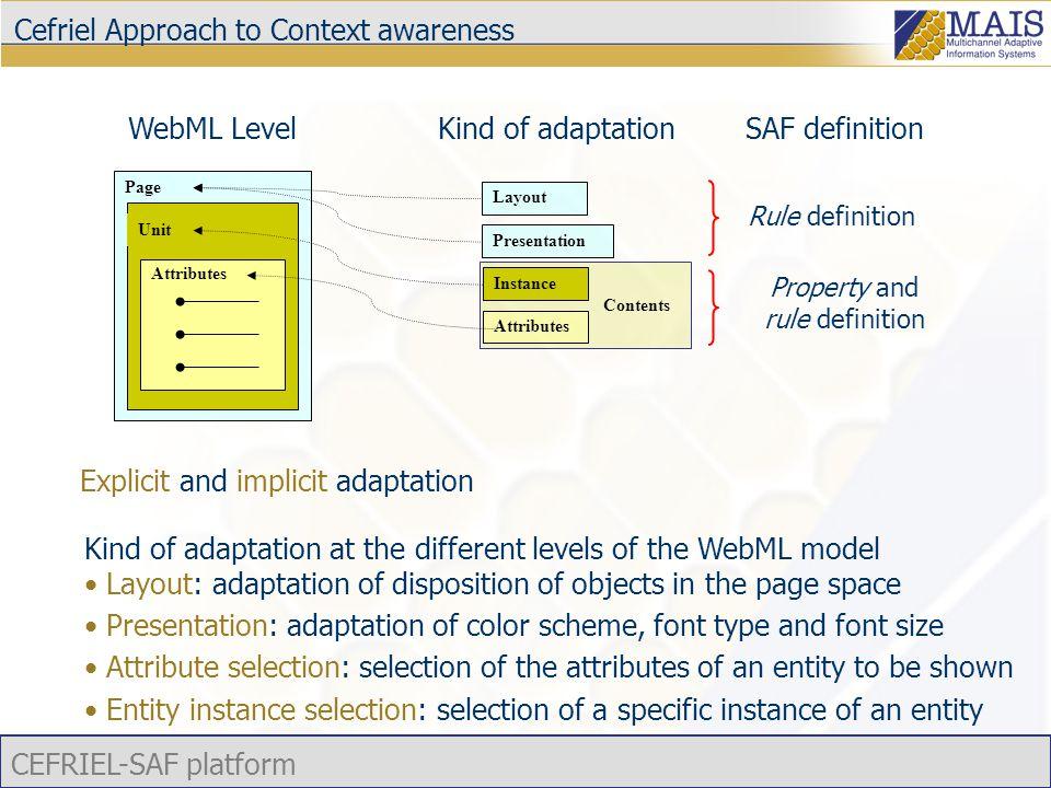 CEFRIEL-SAF platform Tecnologie assistive  Skip Navigation Link visibili a screen reader e browser testuali guidano l'utente all'interno della pagina direttamente nel punto in cui iniziano i contenuti  Tab Navigation Navigazione sequenziale tramite utilizzo di due tasti  Access Key Tasti di accesso rapido