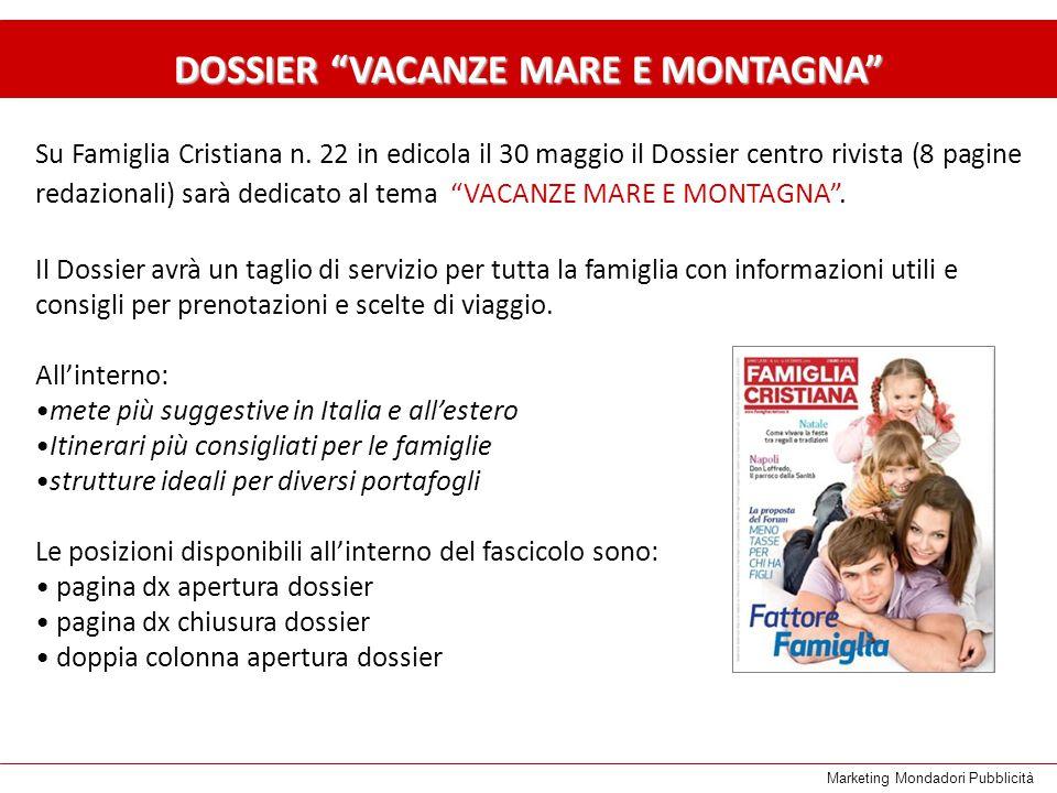 Marketing Mondadori Pubblicità Su Famiglia Cristiana n.