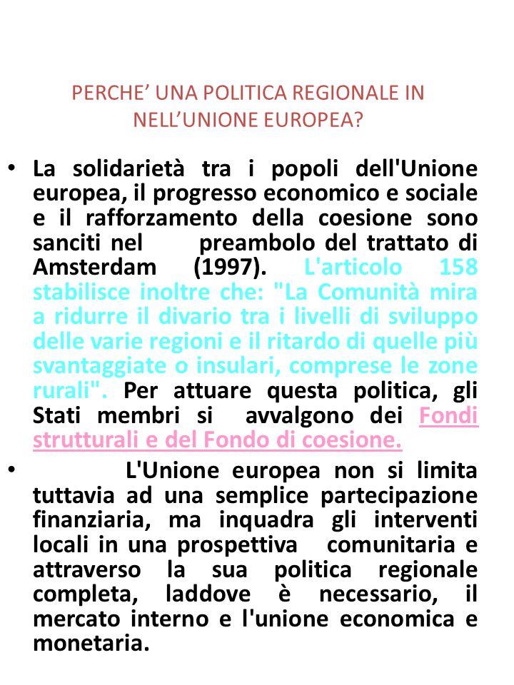 Fino al recente rallentamento della crescita iniziato nel 2001, il divario nel PIL pro capite tra le regioni meno prospere dell'Unione (quelle che sono state al centro dell'attenzione della politica di coesione dell'UE) e le altre regioni ha registrato una diminuzione negli ultimi anni.