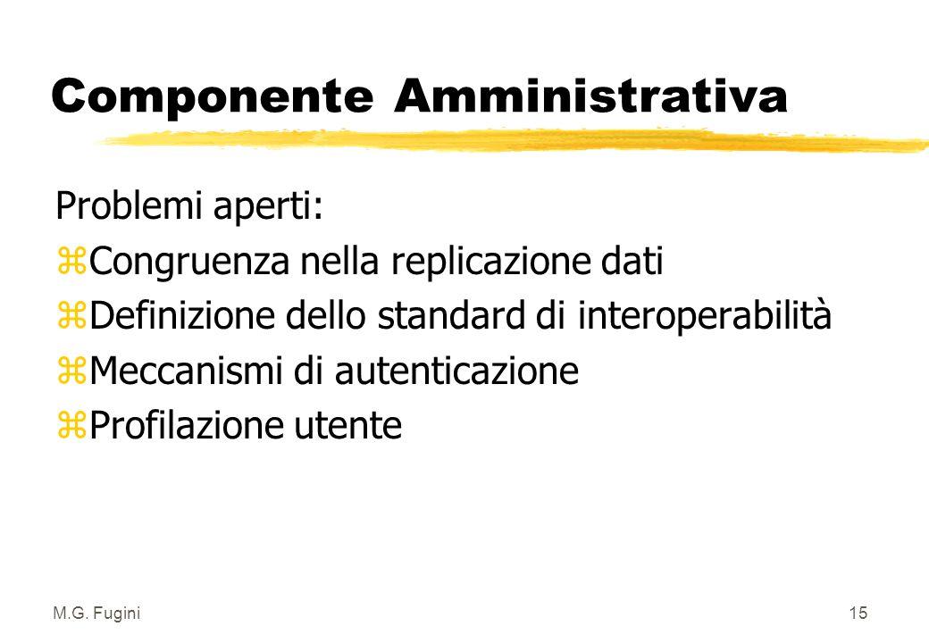 M.G. Fugini14 Componente Amministrativa zANALISI DEI FLUSSI INFORMATIVI 3.