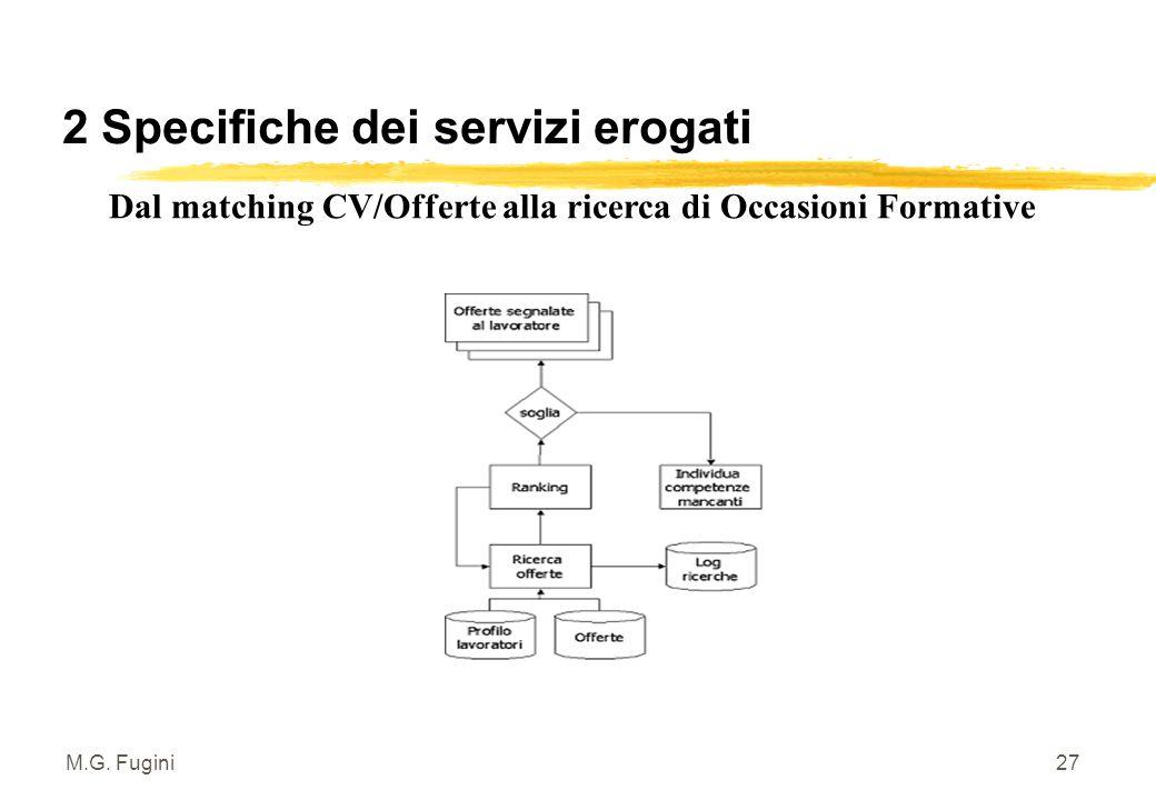 M.G. Fugini26 2 Specifiche dei servizi erogati SCHEMA LAVORATORE