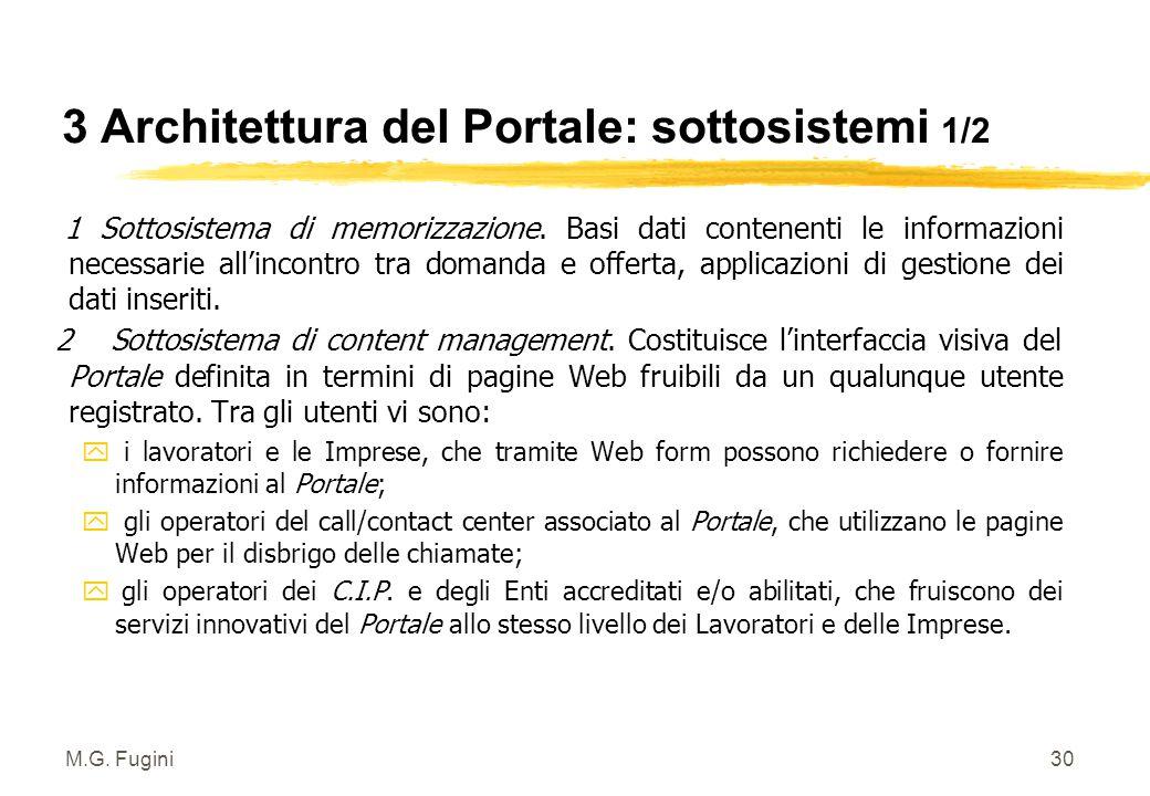 M.G. Fugini29 3 Architettura completa del Portale a livello regionale