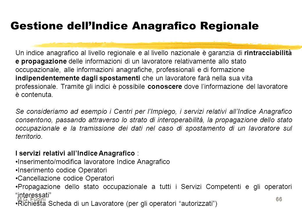 M.G. Fugini65 Gestione dell'Indice Anagrafico Regionale