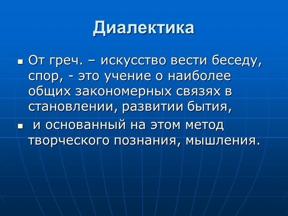 Диалектика От греч.