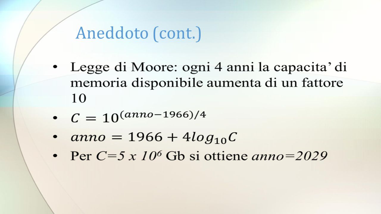 Aneddoto (cont.)
