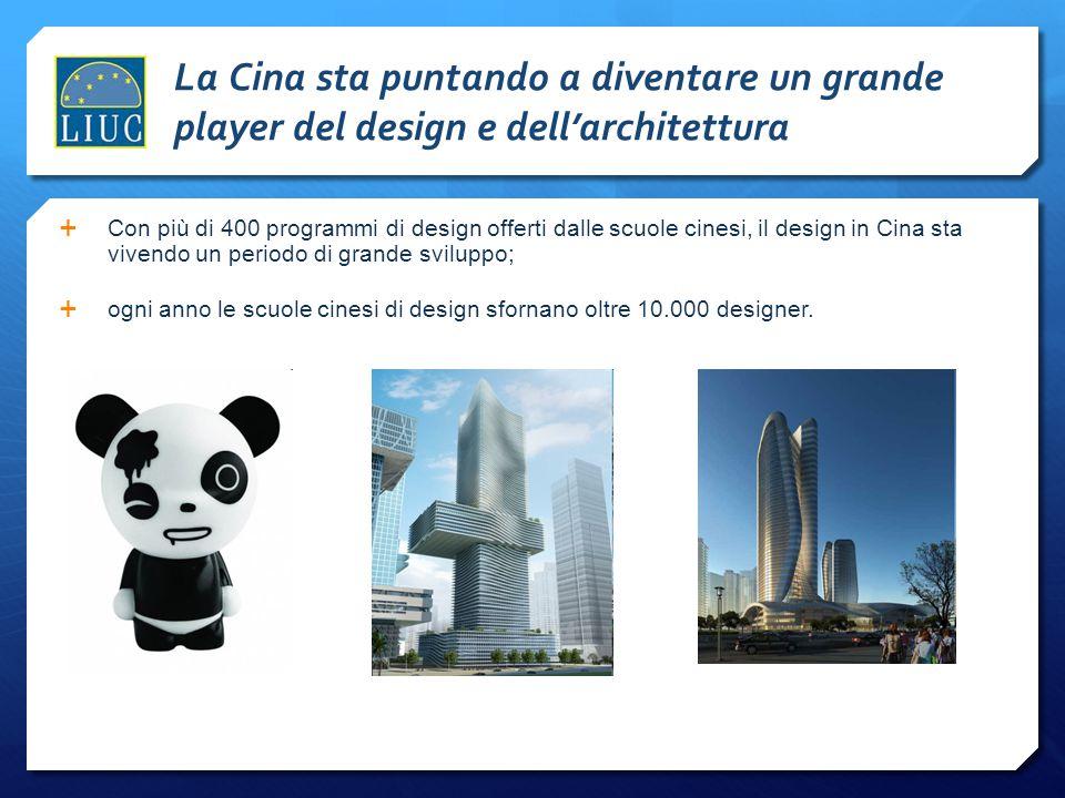 La Cina sta puntando a diventare un grande player del design e dell'architettura  Con più di 400 programmi di design offerti dalle scuole cinesi, il