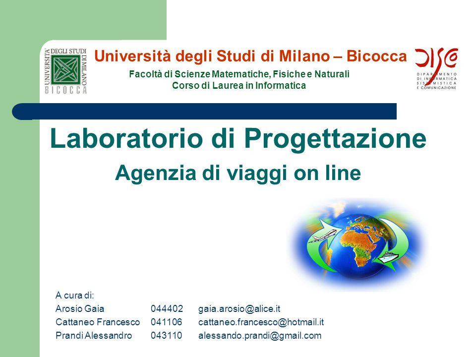 Laboratorio di Progettazione A cura di: Arosio Gaia044402gaia.arosio@alice.it Cattaneo Francesco041106cattaneo.francesco@hotmail.it Prandi Alessandro0