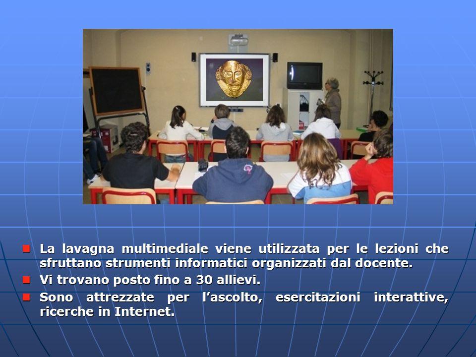La lavagna multimediale viene utilizzata per le lezioni che sfruttano strumenti informatici organizzati dal docente. La lavagna multimediale viene uti