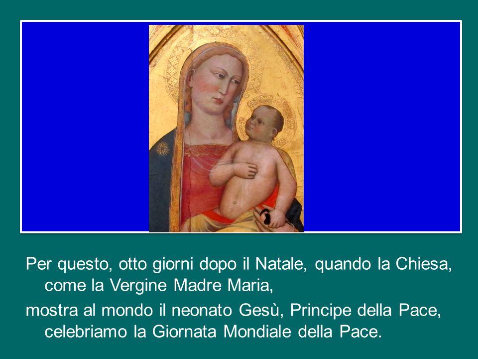 Questo è il canto degli angeli a Natale, ed è il canto dei cristiani sotto ogni cielo; un canto che dai cuori e dalle labbra passa nei gesti concreti,