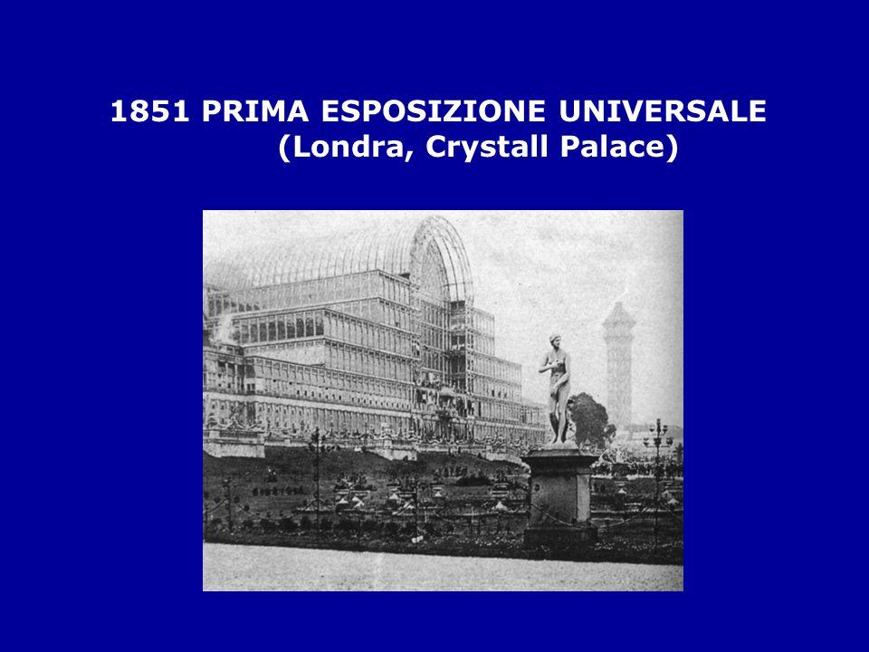 1851 PRIMA ESPOSIZIONE UNIVERSALE (Londra, Crystall Palace)