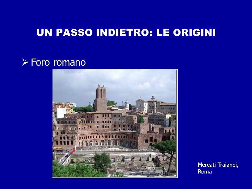 UN PASSO INDIETRO: LE ORIGINI  Foro romano Mercati Traianei, Roma