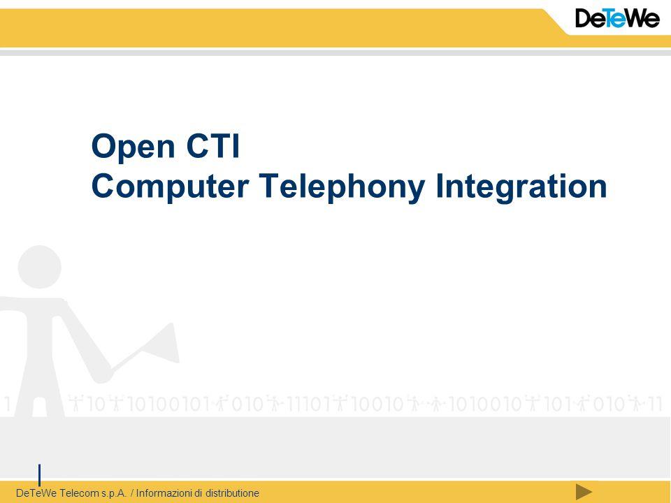 DeTeWe Telecom s.p.A. / Informazioni di distributione Open CTI Computer Telephony Integration
