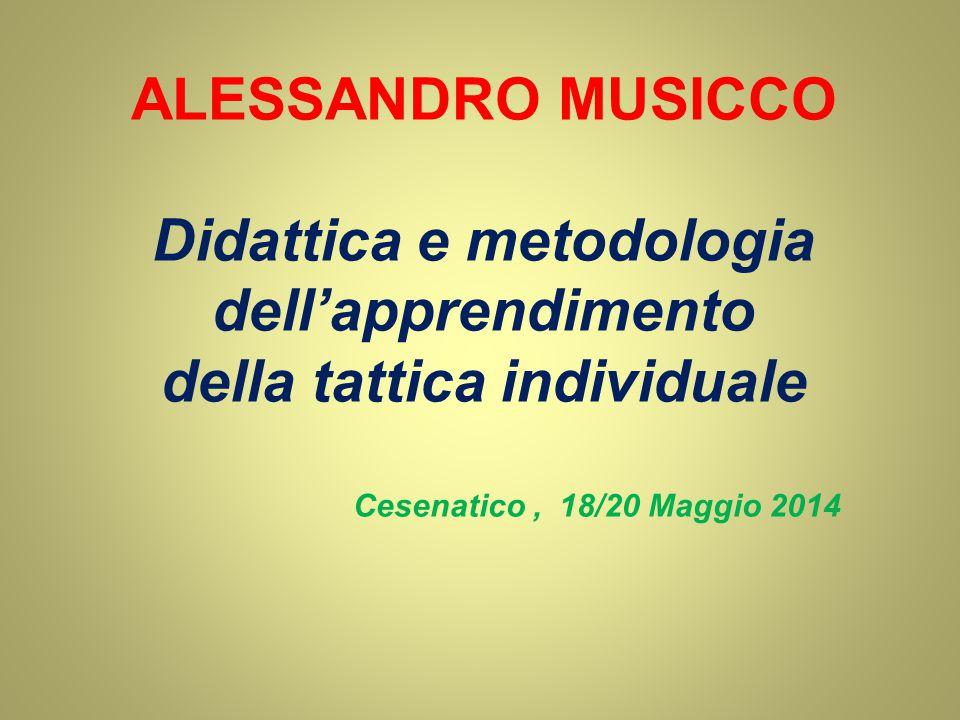 ALESSANDRO MUSICCO Didattica e metodologia dell'apprendimento della tattica individuale Cesenatico, 18/20 Maggio 2014