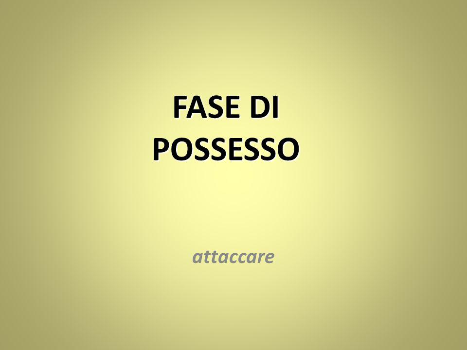 FASE DI POSSESSO attaccare