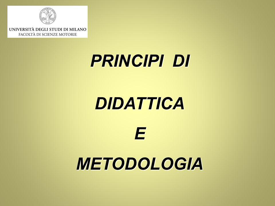 PRINCIPI DI DIDATTICAEMETODOLOGIA