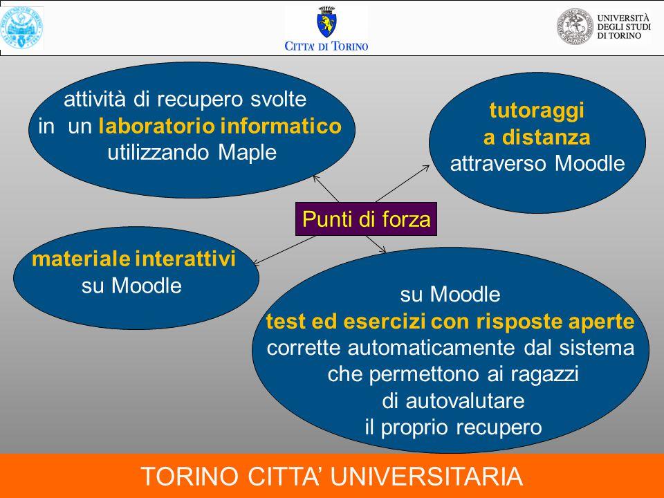 TORINO CITTA' UNIVERSITARIA Indirizzo web della piattaforma http://scuoladeicompiti.i-learn.unito.it