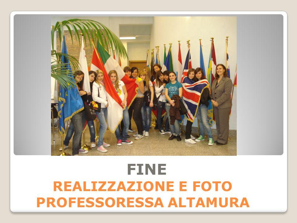 FINE REALIZZAZIONE E FOTO PROFESSORESSA ALTAMURA