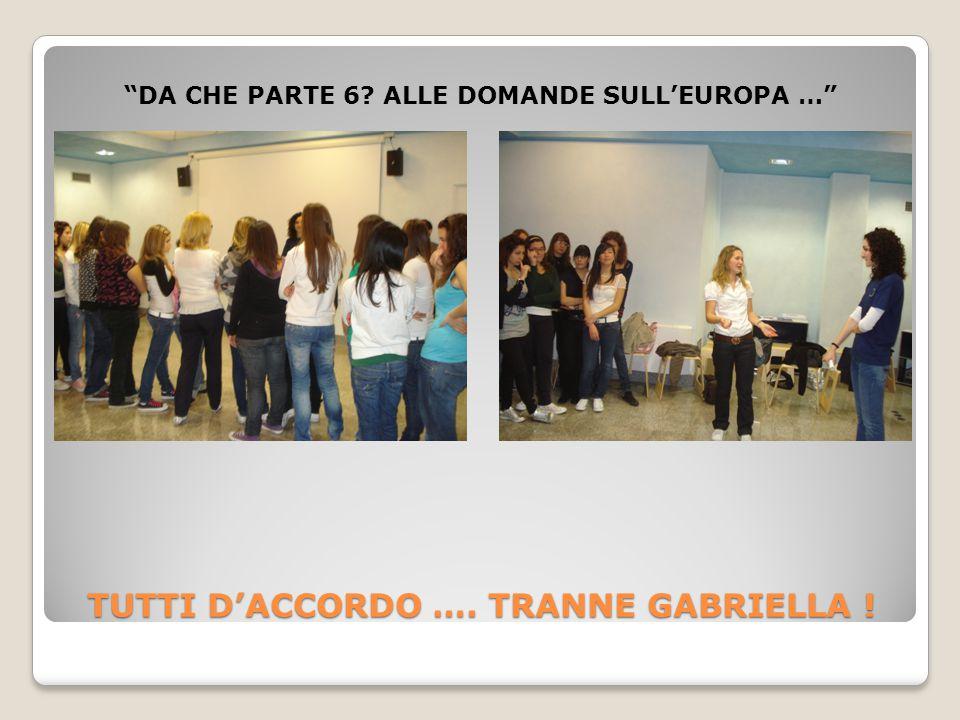 TUTTI D'ACCORDO …. TRANNE GABRIELLA ! DA CHE PARTE 6 ALLE DOMANDE SULL'EUROPA …