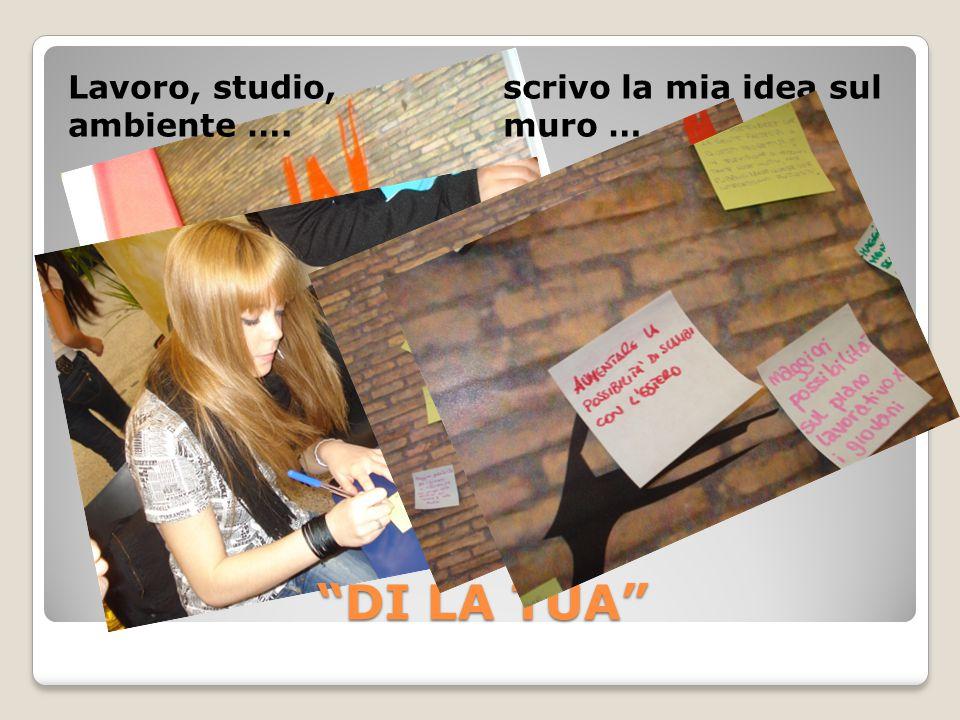 DI LA TUA Lavoro, studio, ambiente …. scrivo la mia idea sul muro …